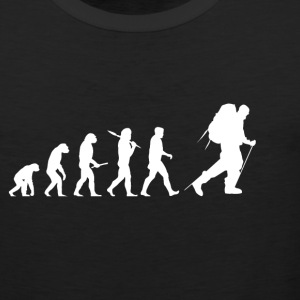 Evolution hiking! Wandeling! Mountains! Klimmen! - Mannen Premium tank top