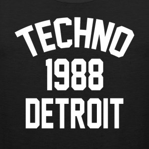 Techno 1988 Detroit - Tank top męski Premium