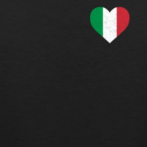 Italy Flag Shirt Heart - Italian Shirt - Men's Premium Tank Top