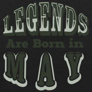LEGENDS ARE BON IN MAY - Männer Premium Tank Top