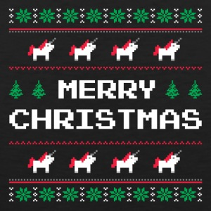 Merry Christmas | Ugly Sweater - Unicorn - Men's Premium Tank Top