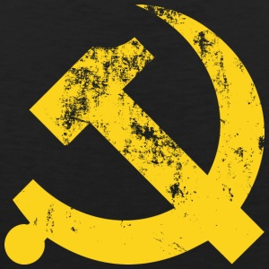 Hammer and Sickle Vintage Communist - Men's Premium Tank Top