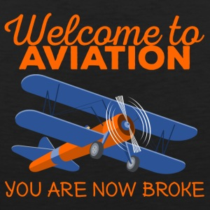 Pilot: Welcome to Aviation. You are now broke. - Männer Premium Tank Top