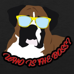 Dog / Boxer: Who is the Boss? - Men's Premium Tank Top