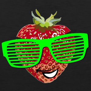horny strawberry strawberry cool sunglasses Hipste - Men's Premium Tank Top