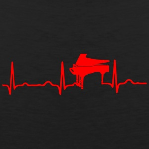 EKG HEARTBEAT PIANO red - Premium singlet for menn
