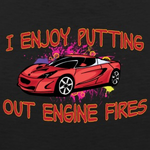 I enjoy putting out engine fire red sportscar - Men's Premium Tank Top