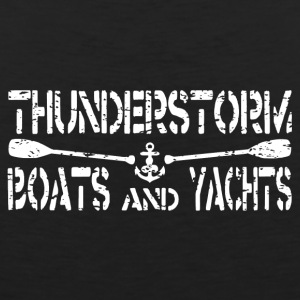 Thunder Storm Boat Yacht Logo - Mannen Premium tank top