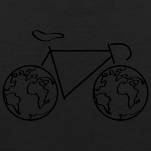 One the road - with the bike around the world. - Men's Premium Tank Top