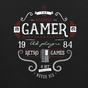 Retrogame nerd it geek play 1984 8bit console lol - Men's Premium Tank Top