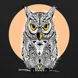 Owl mandala eyes illuminati night swag bird lol - Men's Premium Tank Top