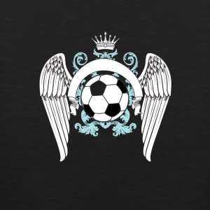 Soccer football goal champion winner engel king king - Men's Premium Tank Top