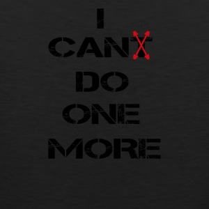 i can(t) do one more schwarz paingain train repeat - Männer Premium Tank Top