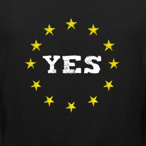 yes Europe EU love Europa no brexit demo euro volk - Männer Premium Tank Top