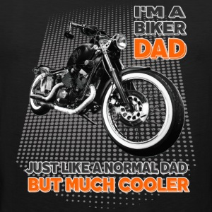 I'm a biker dad, but much cooler Dad father moped - Men's Premium Tank Top