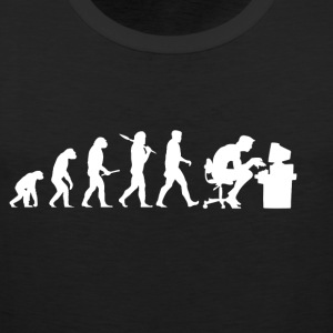 Evolution Computer Nerd! PC Nerd! IT! Technology! - Men's Premium Tank Top