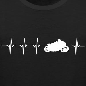 I love motorcycling (motor heartbeat) - Men's Premium Tank Top