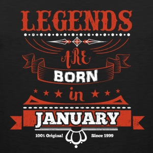 Legends January born birthday gift Young - Men's Premium Tank Top