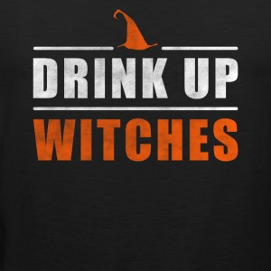 Halloween Drink up Witches outfit - Mannen Premium tank top
