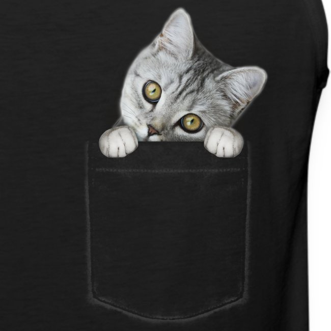 cat pocket - Männer Premium Tank Top