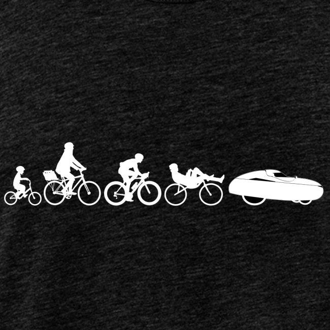 Bicycle evolution white