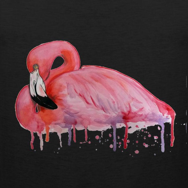 Pink Flamingo Watercolors Nadia Luongo
