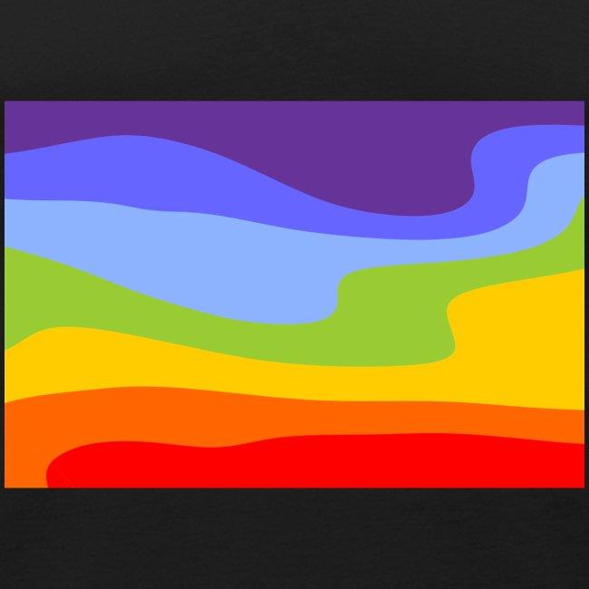 Hintergrund Regenbogen Fluss