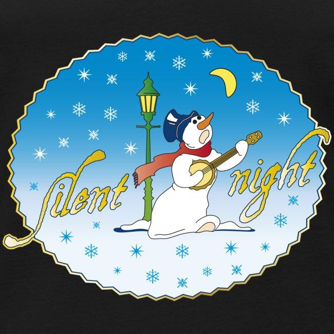 Silent night Schneemann Weihnachten Winter x-mas