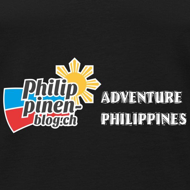 Philippinen-Blog Logo english schwarz/weiss
