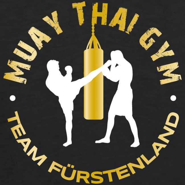 Logo MUAY THAI GYM Team Fuerstenland gold weiss