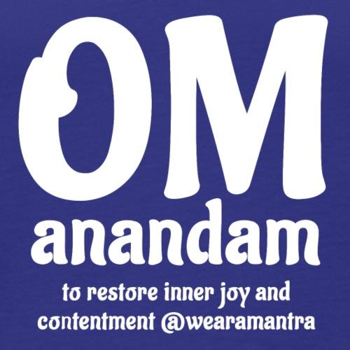 Om Anandam 2 white - Canotta premium da uomo