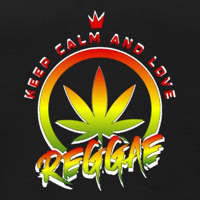 KEEP CALM LOVE REGGAE wht edge