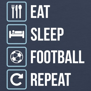 Eat Sleep Calcio Repeat - Canotta premium da uomo