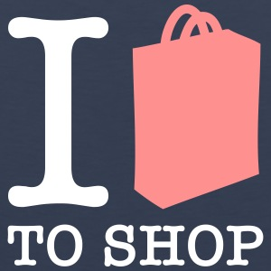 I Love Shopping! - Men's Premium Tank Top