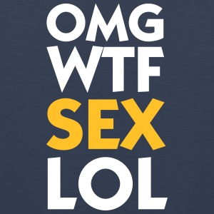 OMG WTF SEX LOL - Mannen Premium tank top