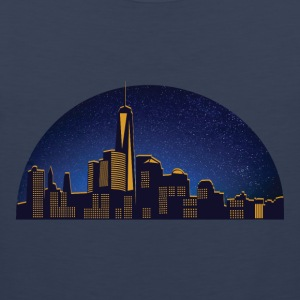 N.Y night skyline - Premiumtanktopp herr