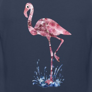 flamingo rosa kristaller Press - Premiumtanktopp herr