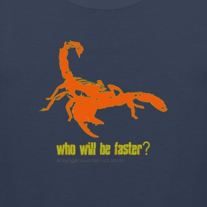 Skorpion who will be faster? - Männer Premium Tank Top