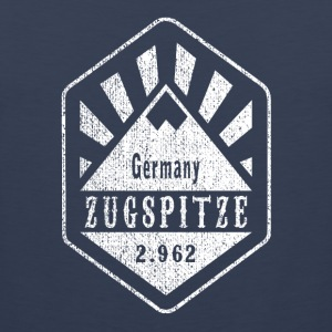 Zugspitze coat of arms - white - Men's Premium Tank Top