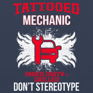 TATTOOED MECHANIC - Premium singlet for menn