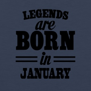 Legends are born in JANUARY - Tank top premium hombre