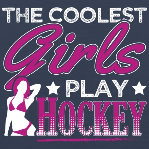 COOLEST GIRLS PLAY HOCKEY - Men's Premium Tank Top