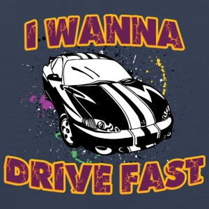 I wanna drive fast black car - Men's Premium Tank Top