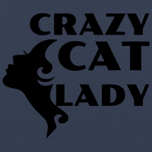 CRAZY CAT LADY black - Men's Premium Tank Top