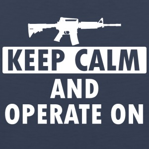 Keep Calm Operate on - Men's Premium Tank Top