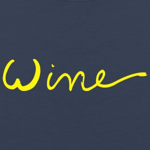 Wine art logo YELLOW - Men's Premium Tank Top
