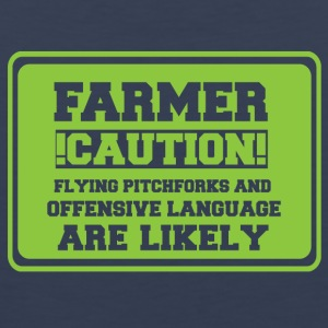 Farmer / farmer / farmer: Farmer! Caution! Flying - Men's Premium Tank Top