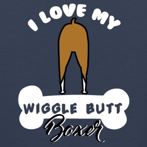 Dog / Boxer: I love my wiggle butt boxer - Men's Premium Tank Top