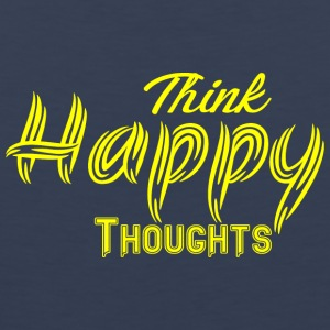 THINK HAPPY THOUGHTS gelb - Männer Premium Tank Top