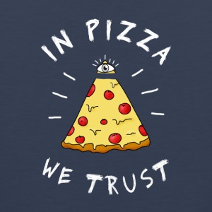 In pizza we Trust Illumination Pyramid Eye Humor - Men's Premium Tank Top